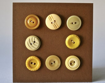 Vintage Yellow Buttons for Sewing and Craft Projects