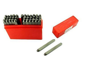 36 pc Mazbot 1.5mm LOWERCASE Letter and Number Punch stamping Kit LP150LN