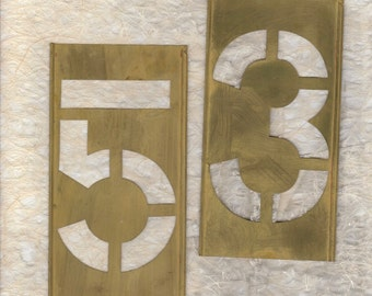 "6"" Stencil Brass Large 6 inch Pick your Number"