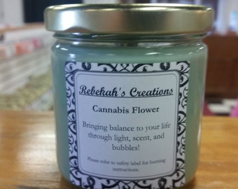 Cannabis Flower Small Jar Candle