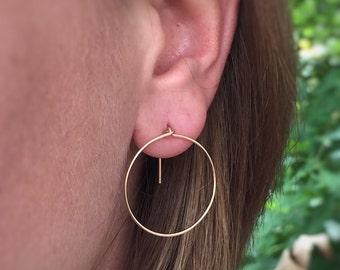 Modern Earrings; Gold large hoop earrings Minimalist Earrings; dainty jewelry