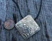 Geisha Fine Silver Elegant Necklace