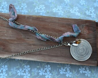 Labyrinth Necklace Serenity Boho Amber Hippie Gift for her  Mother's Day