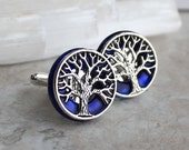royal tree of life cufflinks, celtic cufflinks, anniversary gift, best man gift, mens jewelry, fiance gift, groom cufflinks, unique gift