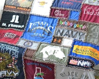 T-Shirt Rag Quilt Full and Queen Sized Tee Shirt Quilt : tshirt rag quilt - Adamdwight.com