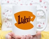 LUKE'S Diner Stars Hollow Connecticut Gilmore Girls Inspired - 11 ounce DISHWASHER / Microwave Coffee Mug - Superb GIFT - May Add Own Text