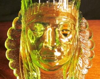 VALENTINESALE Vaseline Indian Head Toothpick Holder