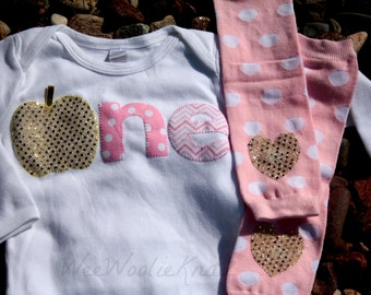 Glittery Pink and Gold 1st Birthday- Pumpkin- T shirt- Girls- Outfit- Bodysuit- 2nd -Halloween -Toddler- Long or Short Sleeve
