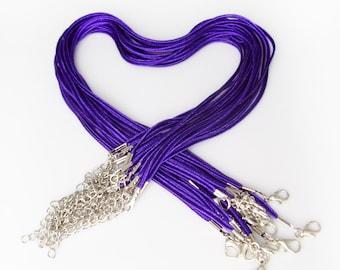 """25 """"Bailey"""" Necklaces - Purple 17-19"""" inch 3mm"""