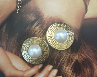 Vintage Givenchy Pearl Earrings