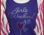 Girls weekend TSHIRT TANK top Birthday Trip tank top Vacation tank s m l xl 2x 3x Girls Night Out Girls Vegas Trip Vegas Bachelorette party