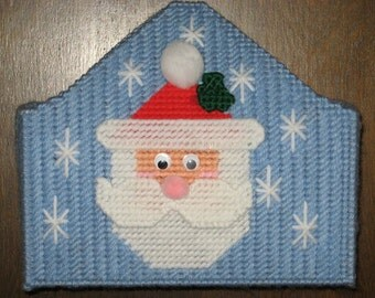 Santa Napkin Holder Plastic Canvas Pattern