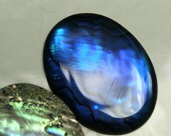Paua Abalone Oval cabochon 1 pc 30x40 mm Dyed Paua thickness 3.5 mm Abalone