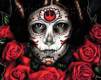 Day of the dead princess leia