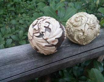 Ceramic Decorator Balls Set 6 Home Decor Rustic Home