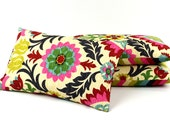 Colorful Floral Chevron Throw Pillow Cover Lumbar 12x20, Reversible Decorative Pillow - Featured in Etsy Finds, Cinco de Mayo Collection