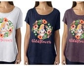 Alice in Wonderland Tank | Wildflower | Disney Tank Top | Watercolor Women's Tank Top shirt
