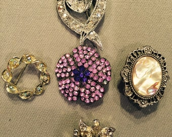 Antique Pins and Brooches - 5 total