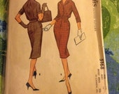 "Vintage McCall's 5168 Shirt Dress Sewing Pattern Slim Skirt 34"" Bust"