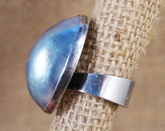 Sterling Silver Osmena Pearl or Blue Nautilus Ring