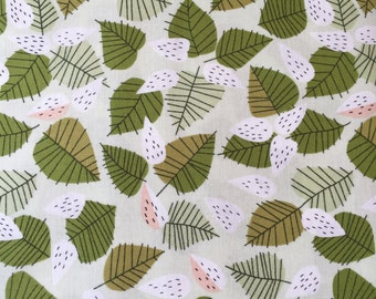 Leaves, the lovely hunt by lizzy house for Andover Fabrics, 1/2 yd