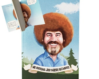Bob Ross - Happy Little Accidents Notebook / Official Bob Ross product / Christmas Gift for an Artist