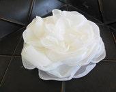 Wedding hair flower, Chiffon hair clip, Bridal/Bridesmaid hair flower, Boho hair piece, YOUR CHOICE COLOR, Wedding hair piece, Hair flower