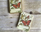 Vintage Bookplate Stickers - Butterfly - Book Plate - Library