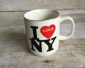 Retro I Love New York Mug - Heart Mug -