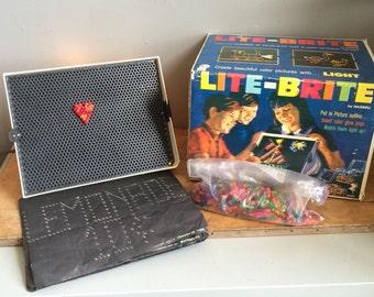 1967 Lite Brite by Hasbro Vintage Electric Play Set Art