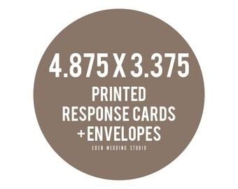 4.875x3.375 Eden Wedding Studio Printed Response Cards + Envelopes