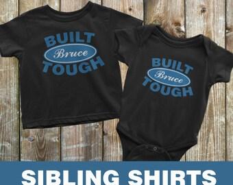 Sibling Shirts, Big Brother and little brother, Built Ford Tough, Matching brother shirts, Sibling Matching Shirts, Custom Shirt Set