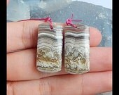 Crazy Lace Rosetta Stone Gemstone Earring Bead,26x13x5mm,7.6g