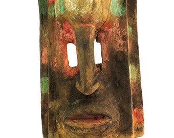 Dogon Dama Mask with Four Guardians Custom Stand Mali African Art 98671 SALE WAS 3500