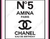 Chanel No5 Birthday Sign