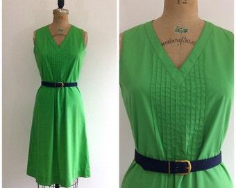 1980s Green Summer Dress 80s Kolkection Sundress