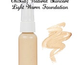 Light Warm All Natural Foundation/Light Warm/ For Sensitive and Acne Prone Skin Types