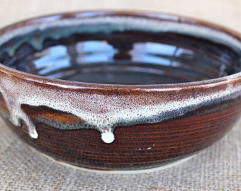 Small shallow pottery bowl, Ceramic, Stoneware, wheel thrown, ready to ship