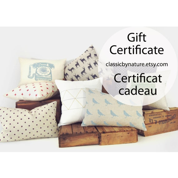 Good Last Minute Wedding Gifts: Items Similar To ClassicByNature Gift Certificate