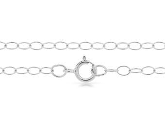 """Sterling Silver 3x2mm 24"""" cable neck chain - 5pcs Finished chain 20% discounted 925 stamped (4207)/5"""