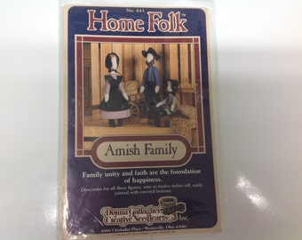 AMISH FAMILY Doll PATTERN by Home Folk- new and uncut