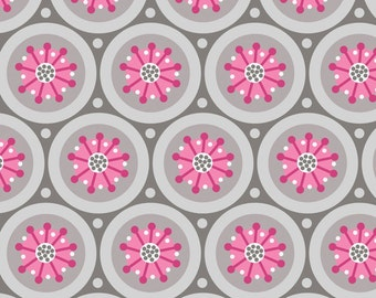 Paradise By Camelot Fabrics Medallion In Iron HALF Yard