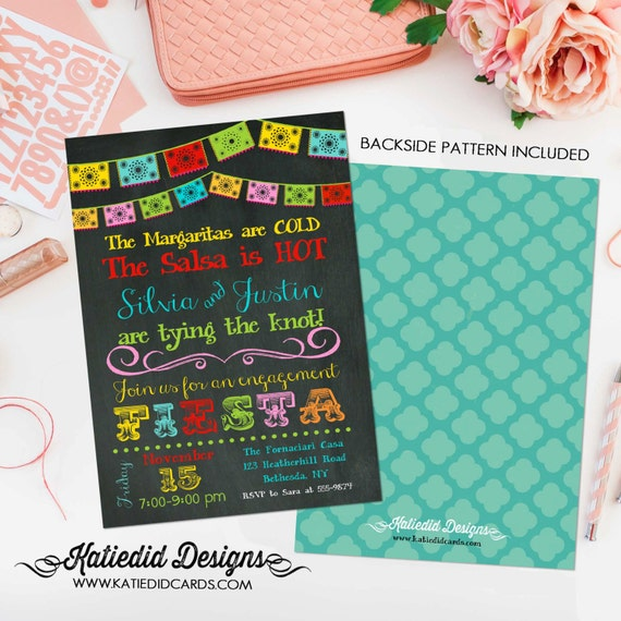 Fiesta bridal shower invitation | I do BBQ engagement party | stock the bar | rehearsal dinner | adults only birthday | 301 Katiedid Designs