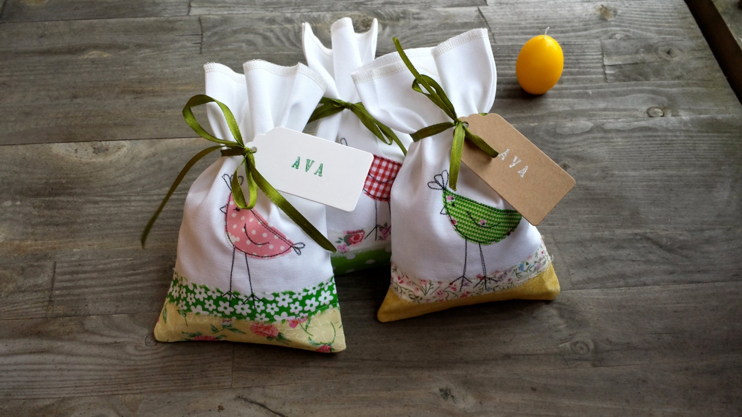 3 Easter Gift Bagseaster Treat Bags Personalized Easter