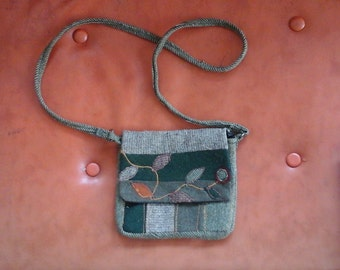 Young womens gift Recycled Wool Folk Art Purse