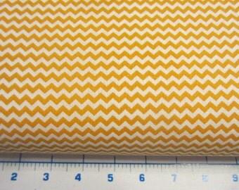 Chevron design fabric, Gold  and White