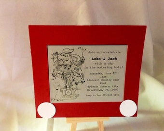Toy Story Invitation-Etch a Sketch