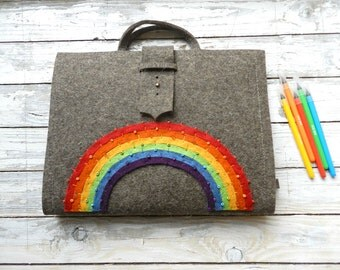 Artist Tote (A/4) with rainbow  FREE SHIPPING