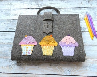 Artist Tote (A/4) with muffin  FREE SHIPPING