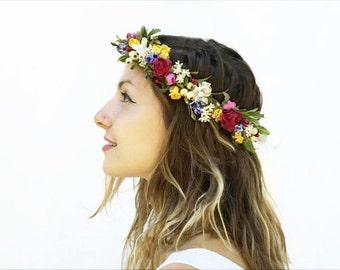 Bridal Flower Headpiece, Floral Crown, Bridal Flower Crown, Flower Crown, Bridal Flower Headpiece, Rustic Wedding, Woodland Wedding, Boho